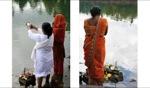 Praying / Grand Bassin Mauritius